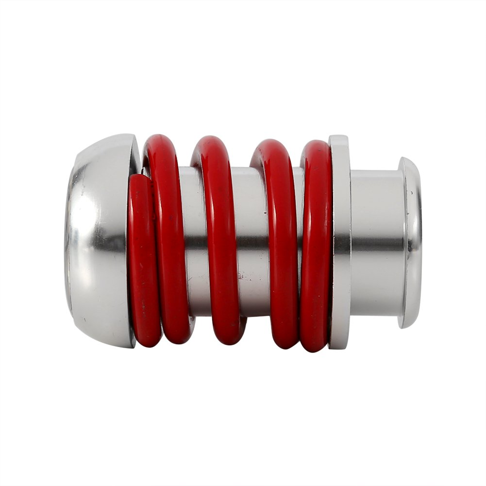Red Universal Manual 5 Speed Shift Knob Car Spring Gear Shifter Knob Stick Head Lever with 3 Adapters 8mm,10mm,12mm