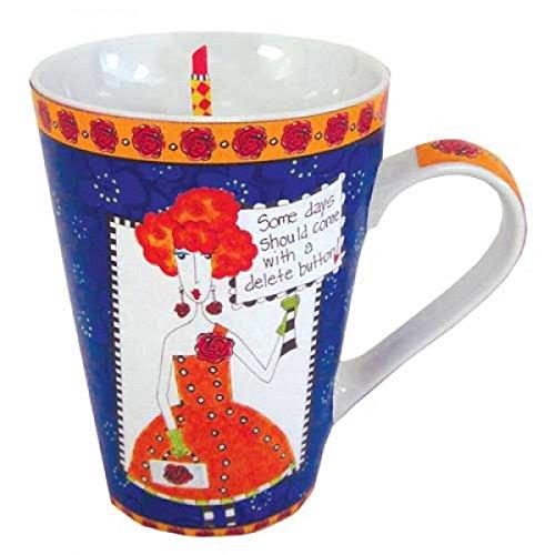 Pictura Dolly Mama Womens 12 Oz Gift Mug in Gift Box ''Delete Button''