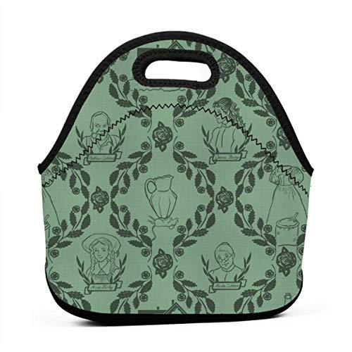 Gable Kit - Green Anne Of Green Gables Multifunctional Portable Bento Bag,Lunch Box Bag For School Travel Work Office