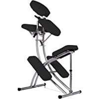 L'aluminium chaise de massage avec le sac Coleur Noir