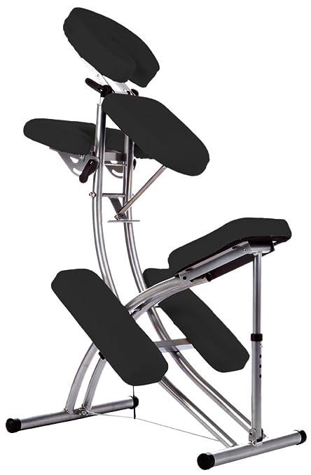 Aluminio silla de masaje fisioterapia NEGRO: Amazon.es ...