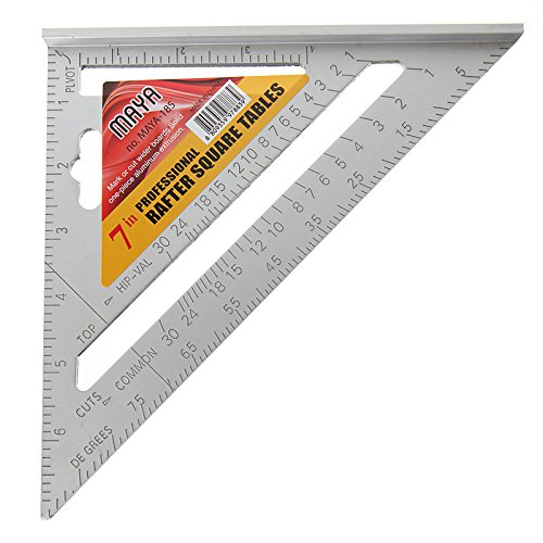 Techinal Techinal 7-Inch Triangle Carpenter's Square Measuring Ruler Angle Protractor Tool