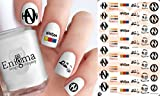 Hanson Clear Water-slide Nail Decals (Set of 53)