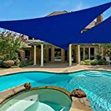 E.share 20'x20'x20' Triangle Blue Sun Shade Sail Perfect UV Block for Outdoor Patio Garden