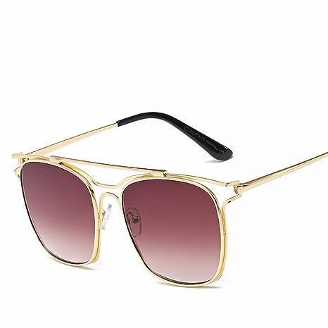 YL LY Gafas de Sol Retro de Moda Gafas de Sol de Metal Gafas ...
