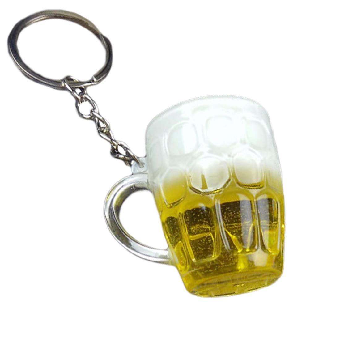 ToneStyle-U Im Freien Harz Bier Tassen Simulation Lebensmittel Handwerk Keychain Für Auto Tasche Schlüsselanhänger Anhänger Zubehör Geschenk