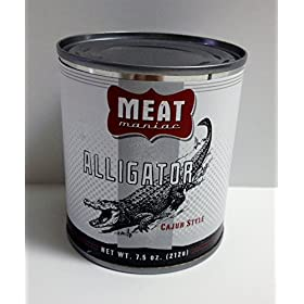 MEAT MANIAC CAJUN ALLIGATOR- Exotic Gourmet Canned Wild Game Meat