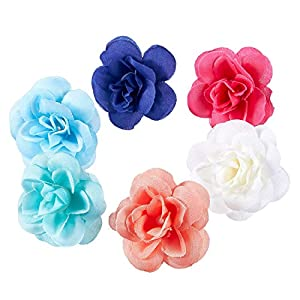 Juvale Artificial Flower Heads - 60-Pack Fabric Fake Flowers for Wedding Decorations, Baby Showers, DIY Crafts, Mixed Colors, 1.5 x 1.5 x 1.2 Inches 4