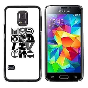 LECELL--Funda protectora / Cubierta / Piel For Samsung Galaxy S5 Mini, SM-G800, NOT S5 REGULAR! -- Pop Art Modern Design Calligraphy --
