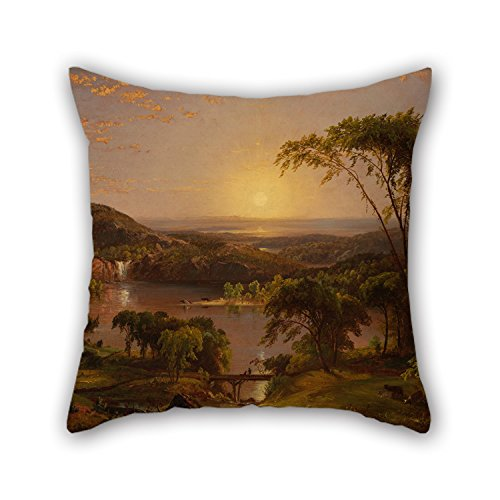 Uloveme 16 X 16 Inches / 40 By 40 Cm Oil Painting Cropsey, Jasper Francis - Summer, Lake Ontario Christmas Pillowcover Two Sides Ornament And Gift To Girls Son Floor Deck Chair Home Office Office
