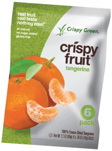Crispy Green Fruit Snacks, Crispy Tangerine,  2.2 Ounce (Freeze Dried Tangerine)
