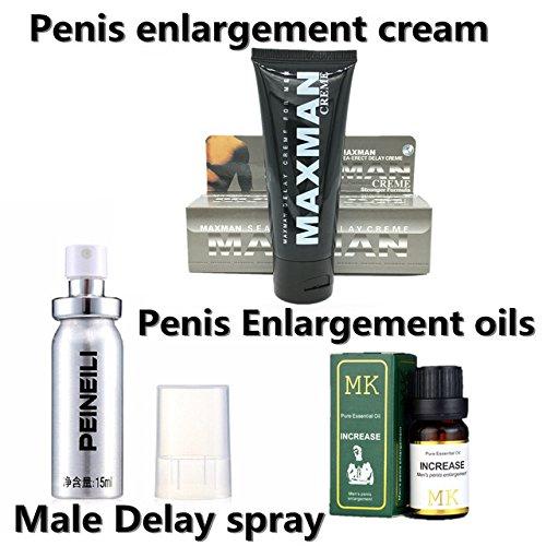 Herbal Penis Enlargement - 3Pcs New Peineili male delay spray For Men Penis Erection Spray & MK Herbal Penis Enlargement Oil,MAXMAN Penis Enlargement Cream