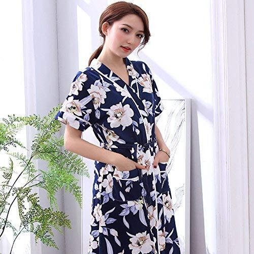 Casa Azul Marino Lindou Primavera Y Informal De Otoño Mujer Pijama Marino Verano Albornoz Camisón Xxxl Noche Grande Ropa Para qqZrcvUw