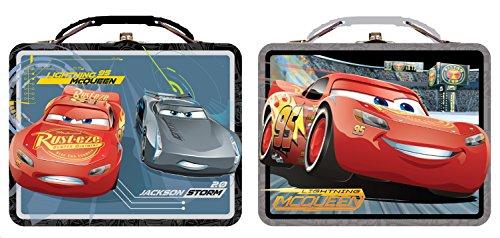 Cars Lunch Box - Disney 3  Metal Tin Case tin617677