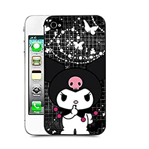 meilz aiaiCase88 Designs My Melody & Kuromi Collection 0651 Protective Snap-on Hard Back Case Cover for Apple Iphone 4 4smeilz aiai