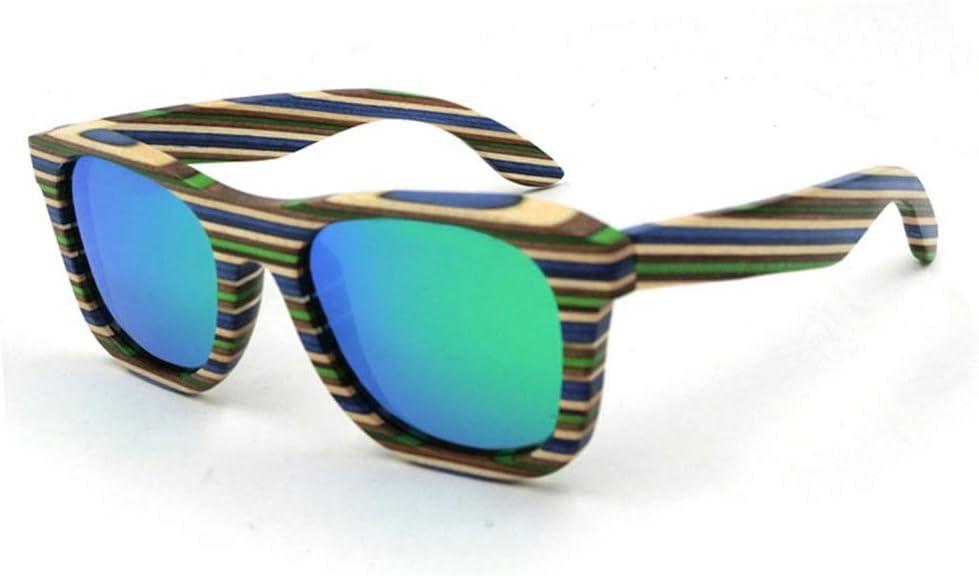 JKHOIUH Gafas de Sol de Madera para Hombres/Mujeres, Pesca clásica y Gafas polarizadas Gafas de Sol de Gama Alta para Viajes al Estilo de la Calle al Aire Libre (Color : Verde)
