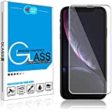 Elegant Choise Compatible iPhone XR Screen Protector, Ultra Clear 9H Anti-Scratch Anti-Fingerprint Bubble Free Full Coverage Tempered Glass Screen Protector(White)