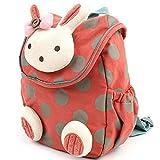 Kinder-Rucksack 3D Tier Kaninchen, Anti-Verlust, Tasche für Baby/Kleinkind/Kind Rot rot