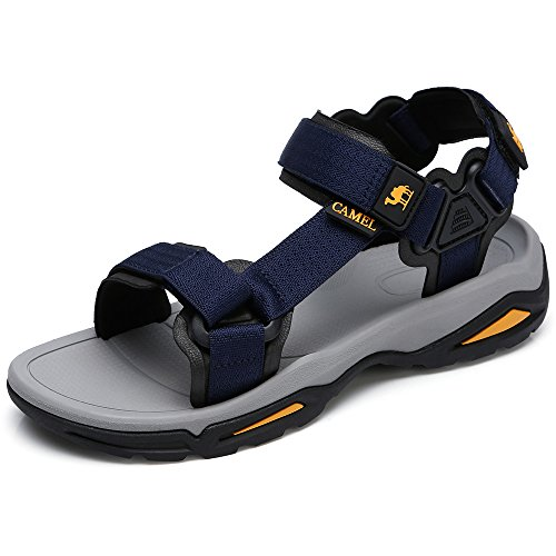 Camel Mens Summer Strap Open Toe Sandals Athletic Casual Beach Sandals for Sport Walking Hiking