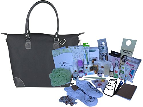 Natural and Organic Deluxe Prepacked Hospital Labor Bag: - Baby Shower Gift