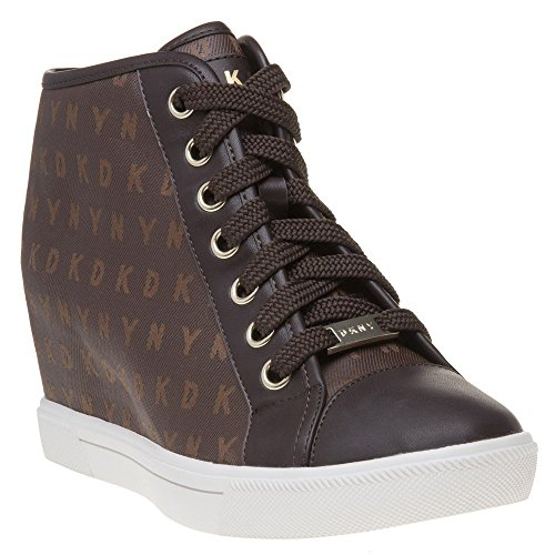 Cindy DKNY Wedge Baskets Sneaker Marron Marron Mode Femme 8vw4Hvnq1