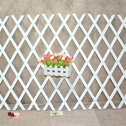 Tutoy Anticorrosive Wood Pull Net Flower Frame Grid Vine Frame Wall Decorations Wall Hanging Telescopic Wooden Fence Pull Net - 105Cm