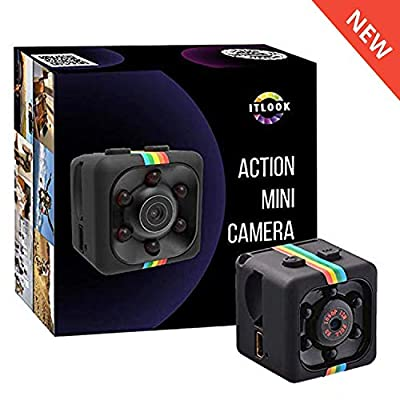 Hidden Spy Camera 1080P Mini Security Wireless cam with Night Vision, Video Recorder for Nanny/Housekeeper, Sports Action Cam with Motion Detection for Home, Car, Drone, Office and Outdoor Use from ITLOOK