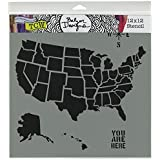 amazon com united states map outline stencil template reusable