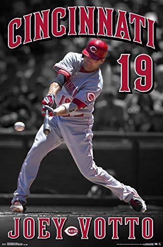 (Trends International Cincinnati Reds-Joey Votto Mount Bundle Wall Poster 22.375