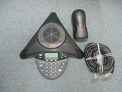 Polycom SoundStation 2 2201-16000-601 Non Expandable Display Conference Phone #B