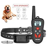 Cheap MESUNKA Dog Training Collar, Shock Bark Training Collar Dogs, IPX7 Waterproof Level, 360 Yards Remote Training Collar with 99 Levels of Vibration & Shock