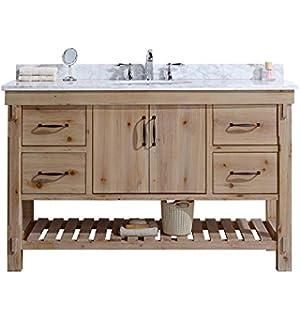 Ari Kitchen And Bath AKB MARINA 55 DRIFTW Marina Bathroom Vanity Driftwood  Finish