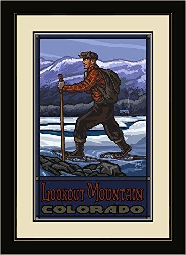 - Northwest Art Mall PAL-0488 MFGDM SSC Lookout Mountain Colorado Snowshoer Cabin Framed Wall Art by Artist Paul A.Lanquist, 13 by 16-Inch