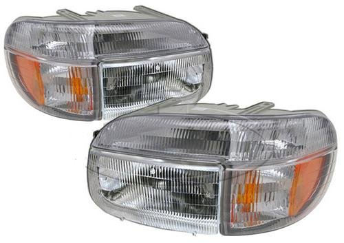 Airstream Land Yacht 39ft 2000-2005 RV Motorhome Pair (Left & Right) Replacement Front Headlights Corner Turn Signal Lights Lighting 4 U