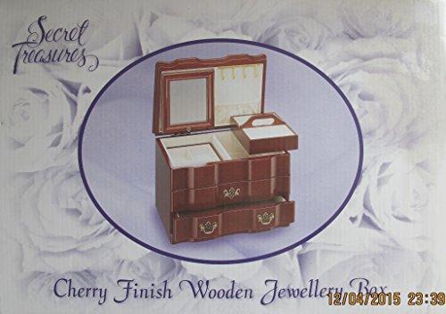 Secret treasures 2609 secret treasures wooden jewelry box for Jewelry box walmart canada