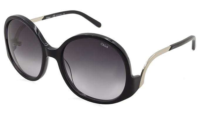 Amazon.com: Chloe anteojos de sol Ronda ce707s 003 negro 57 ...