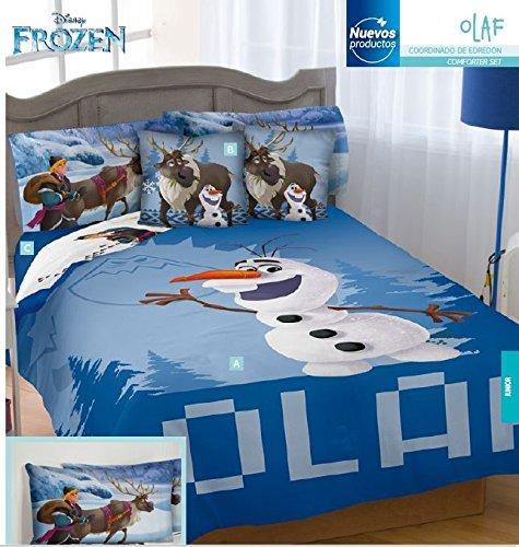 Disney Frozen Olaf 100% Microfiber Comforter Set 5Pc Twin Size by kiddie4u by kiddie4u