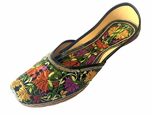 Schritt N Style Damen Leder Sandalen flach Ballerina Schuhe Mehrfarbig
