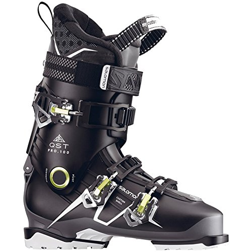 Salomon QST Pro 100 Ski Boots 2017 - 28.5/Black-Anthracite-Acide Green