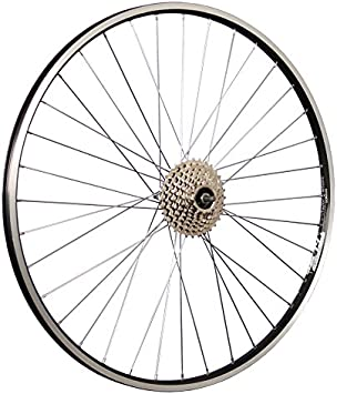 Taylor Wheels Rueda trasera para bicicleta (28 ZAC19 con 8 ...