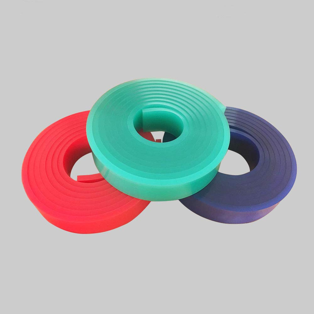 Durometer 12FT/144INCH Silk Screen Squeegee Rubber Blade 2'' x 3/8''-Squeegee roll (65 Duro, 1 roll) by Passad