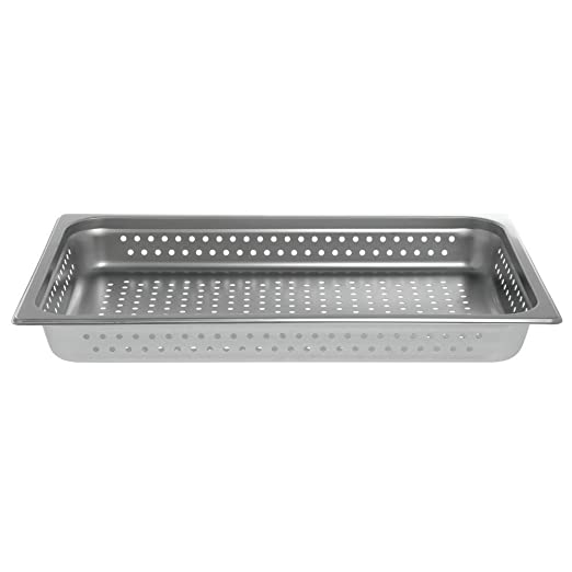 4 D HUBERT Steam Table Pan Full Size Perforated 24 Gauge Stainless Steel
