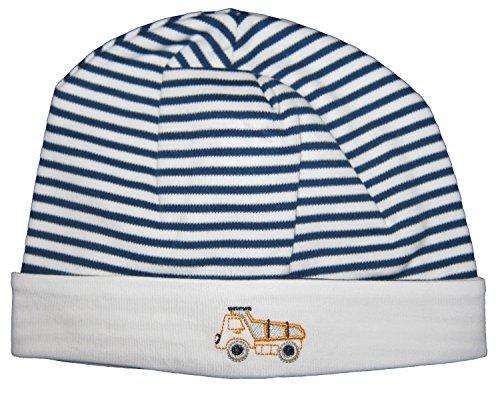 (Kissy Kissy Baby-Boys Infant City Demo Stripe Hat-Navy-Newborn)