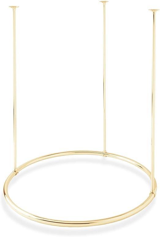Amazon Com Naiture Brass 32 Round Shower Curtain Rod Polished
