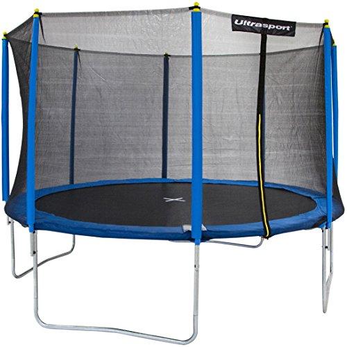 Ultrasport Gartentrampolin inklusive Sicherheitsnetz Uni-Jump, Blau, 366 cm, 331300000256