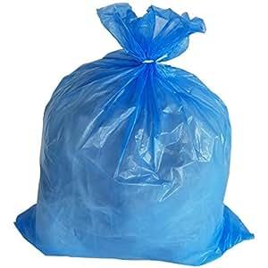 Amazon.com: plasticmill 33 Galón Azul bolsa de basura, 1.5 ...