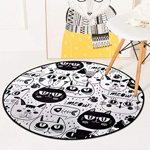 (Rugs European Record Round Carpet Home Decoration Nordic Style Carpets for Home Living Room Cartoon Children's Rug)
