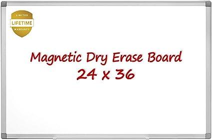 Amazon.com: Pizarra blanca magnética, 24 x 18 pulgadas ...