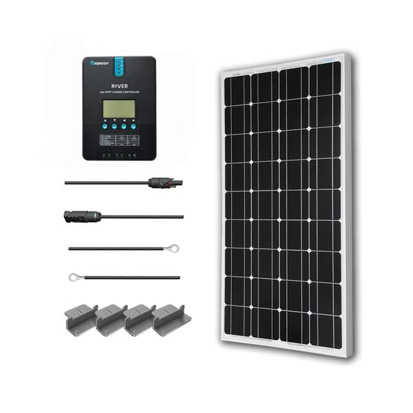 51ZC4N0gRLL. SS600  - Renogy 100 Watts 12 Volts Monocrystalline Solar Starter Kit