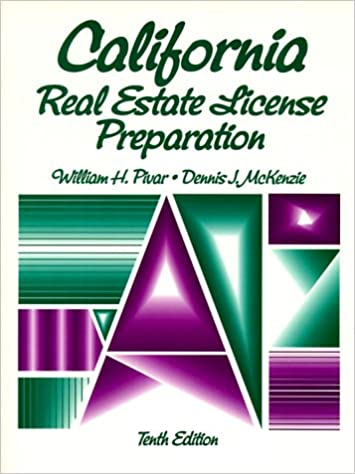 Amazoncom California Real Estate License Preparation Text